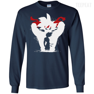 CustomCat Apparel LS Ultra Cotton Tshirt / Navy / Small Dragon Ball Z Bardock Tee