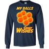 CustomCat Apparel LS Ultra Cotton Tshirt / Navy / Small Dragon Ball Z Grant Wishes Tee