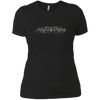 CustomCat Apparel Next Level Ladies' Boyfriend Tee / Black / X-Small Bat Pulse Tee