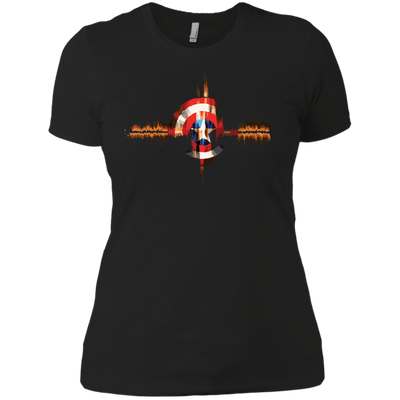 CustomCat Apparel Next Level Ladies' Boyfriend Tee / Black / X-Small Captain Pulse Dark Tee