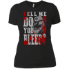 CustomCat Apparel Next Level Ladies' Boyfriend Tee / Black / X-Small Do You Bleed Tee