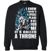 CustomCat Apparel Printed Crewneck Pullover Sweatshirt  8 oz / Black / Small A Throne Tee