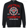 CustomCat Apparel Printed Crewneck Pullover Sweatshirt  8 oz / Black / Small Akatsuki Organization Tee