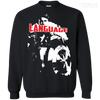 CustomCat Apparel Printed Crewneck Pullover Sweatshirt  8 oz / Black / Small Captain America Language Tee