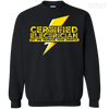 CustomCat Apparel Printed Crewneck Pullover Sweatshirt  8 oz / Black / Small Certified Electrician Tee