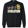 CustomCat Apparel Printed Crewneck Pullover Sweatshirt  8 oz / Black / Small DBZ - Saiyan Evolution Tee