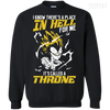 CustomCat Apparel Printed Crewneck Pullover Sweatshirt  8 oz / Black / Small DBZ - Vegeta's Throne Tee