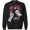 CustomCat Apparel Printed Crewneck Pullover Sweatshirt  8 oz / Black / Small Death the Kid Tee V2