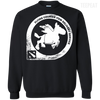 CustomCat Apparel Printed Crewneck Pullover Sweatshirt  8 oz / Black / Small Dota 2 Flying Courier Tee