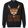 CustomCat Apparel Printed Crewneck Pullover Sweatshirt  8 oz / Black / Small Dota 2 Lane Drunk Tee