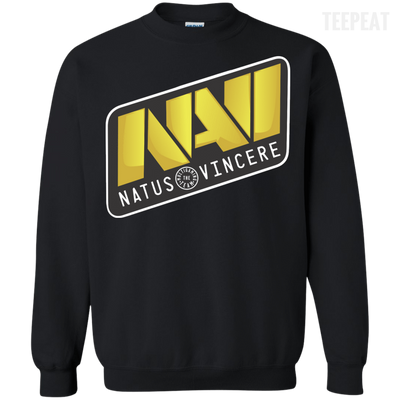 CustomCat Apparel Printed Crewneck Pullover Sweatshirt  8 oz / Black / Small Dota 2 Na`Vi Tee