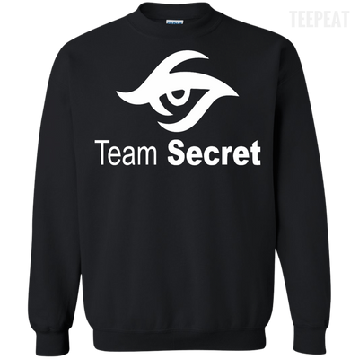 CustomCat Apparel Printed Crewneck Pullover Sweatshirt  8 oz / Black / Small Dota 2 Team Secret Tee