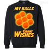 CustomCat Apparel Printed Crewneck Pullover Sweatshirt  8 oz / Black / Small Dragon Ball Z Grant Wishes Tee