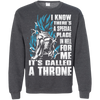CustomCat Apparel Printed Crewneck Pullover Sweatshirt  8 oz / Dark Heather / Small A Throne Tee
