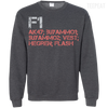 CustomCat Apparel Printed Crewneck Pullover Sweatshirt  8 oz / Dark Heather / Small Counter Strike Buy AK47 Red Tee