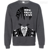 CustomCat Apparel Printed Crewneck Pullover Sweatshirt  8 oz / Dark Heather / Small Death the Kid Tee