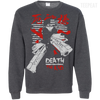 CustomCat Apparel Printed Crewneck Pullover Sweatshirt  8 oz / Dark Heather / Small Death the Kid Tee V2