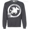 CustomCat Apparel Printed Crewneck Pullover Sweatshirt  8 oz / Dark Heather / Small Dota 2 Flying Courier Tee