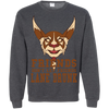 CustomCat Apparel Printed Crewneck Pullover Sweatshirt  8 oz / Dark Heather / Small Dota 2 Lane Drunk Tee