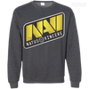CustomCat Apparel Printed Crewneck Pullover Sweatshirt  8 oz / Dark Heather / Small Dota 2 Na`Vi Tee