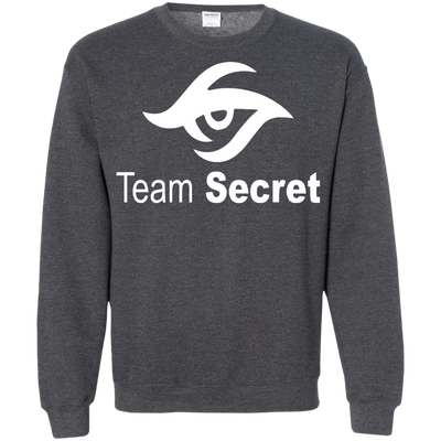 CustomCat Apparel Printed Crewneck Pullover Sweatshirt  8 oz / Dark Heather / Small Dota 2 Team Secret Tee