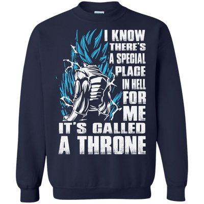 CustomCat Apparel Printed Crewneck Pullover Sweatshirt  8 oz / Navy / Small A Throne Tee