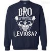 CustomCat Apparel Printed Crewneck Pullover Sweatshirt 8 oz / Navy / Small Bro Do You Even Leviosa Tee