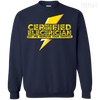 CustomCat Apparel Printed Crewneck Pullover Sweatshirt  8 oz / Navy / Small Certified Electrician Tee
