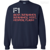 CustomCat Apparel Printed Crewneck Pullover Sweatshirt  8 oz / Navy / Small Counter Strike Buy AK47 Red Tee