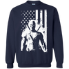 CustomCat Apparel Printed Crewneck Pullover Sweatshirt  8 oz / Navy / Small Deadpool Flag Tee