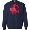 CustomCat Apparel Printed Crewneck Pullover Sweatshirt  8 oz / Navy / Small Death is Coming Tee