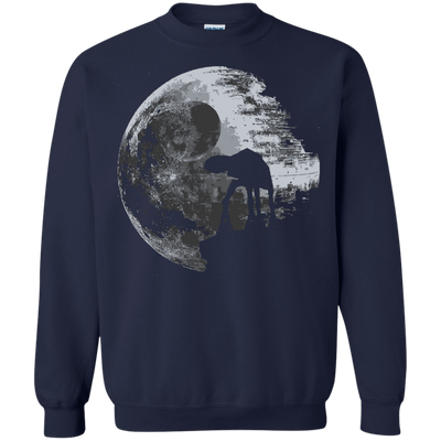 CustomCat Apparel Printed Crewneck Pullover Sweatshirt  8 oz / Navy / Small Death Star Tee