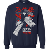 CustomCat Apparel Printed Crewneck Pullover Sweatshirt  8 oz / Navy / Small Death the Kid Tee V2