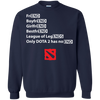 CustomCat Apparel Printed Crewneck Pullover Sweatshirt  8 oz / Navy / Small Dota 2 END Tee