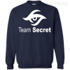 CustomCat Apparel Printed Crewneck Pullover Sweatshirt  8 oz / Navy / Small Dota 2 Team Secret Tee