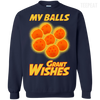 CustomCat Apparel Printed Crewneck Pullover Sweatshirt  8 oz / Navy / Small Dragon Ball Z Grant Wishes Tee