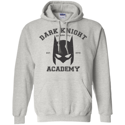 CustomCat Apparel Pullover Hoodie 8 oz / Ash / Small Dark Knight Academy Tee