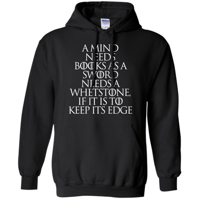 CustomCat Apparel Pullover Hoodie 8 oz / Black / Small A Mind Needs Books Tee