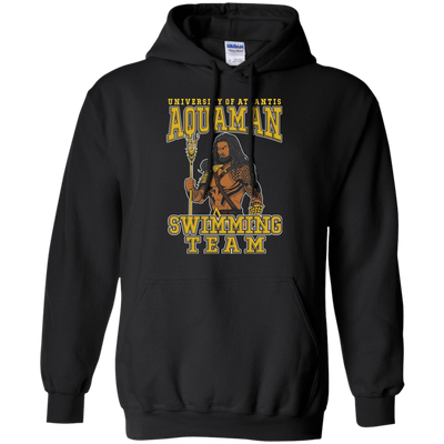 CustomCat Apparel Pullover Hoodie 8 oz / Black / Small Aquaman Swimming Team Tee