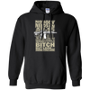 CustomCat Apparel Pullover Hoodie 8 oz / Black / Small Bitch Here You Are Tee