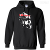 CustomCat Apparel Pullover Hoodie 8 oz / Black / Small Captain America Language Tee