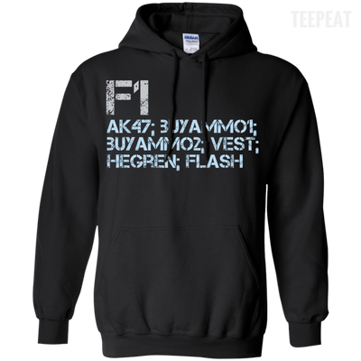 CustomCat Apparel Pullover Hoodie 8 oz / Black / Small Counter Strike Buy AK47 Blue Tee