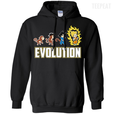 CustomCat Apparel Pullover Hoodie 8 oz / Black / Small DBZ - Saiyan Evolution Tee