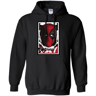 CustomCat Apparel Pullover Hoodie 8 oz / Black / Small Deadpool DisOBEY Tee