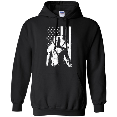CustomCat Apparel Pullover Hoodie 8 oz / Black / Small Deadpool Flag Tee