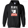 CustomCat Apparel Pullover Hoodie 8 oz / Black / Small Death Note Justice Tee