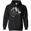CustomCat Apparel Pullover Hoodie 8 oz / Black / Small Death Star Tee