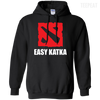 CustomCat Apparel Pullover Hoodie 8 oz / Black / Small Dota 2 Easy Katka Tee