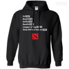 CustomCat Apparel Pullover Hoodie 8 oz / Black / Small Dota 2 END Tee