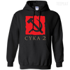 CustomCat Apparel Pullover Hoodie 8 oz / Black / Small Dota 2 Soviet Cyka Tee